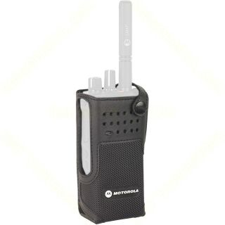 """Motorola PMLN5845A Nylon Carry Case with 3"""" Fixed Belt Loop for Non-Display Radio"""