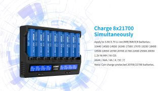 XTAR-VC6 LCD Fast-charging for 8pcs Li-ion/ Ni-MH Battery Charger
